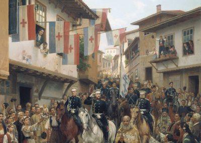 Влизане на Великия Княз Николай Николаевич в Търново