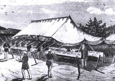 Палатка за обяд на Император Александър II. 1877 г., близо до гр. Свищов