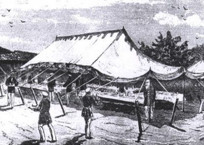 Lunch tent for Emperor Alexander II, 1877, near Svishtov